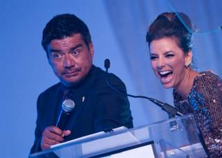 Eva Longoria's Padres gala at the Tropicana on Oct. 15, 2011. Guests included George Lopez, Barbara Padilla, Stefano Langone, Alex Yeminidjian and Alejandra Guzman and honorees Giselle Fernandez and Tim Leiweke.
