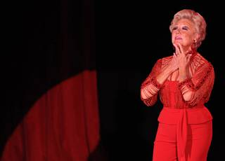Mitzi Gaynor at the Orleans Showroom on Oct. 16, 2011. Siegfried & Roy were among the attendees.