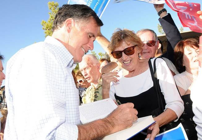 Mitt Romney in Las Vegas on Oct. 17, 2011.