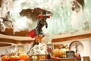A hand-crafted witch, made up of 60 pounds of chocolate and 30 pounds of fondant, is on display at Jean Philippe Patisserie inside the Bellagio Wed. Oct 19, 2011.