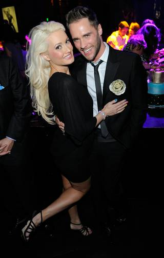 Josh Strickland celebrates his 28th birthday with Holly Madison at Gallery Nightclub in Planet Hollywood on Oct. 23, 2011