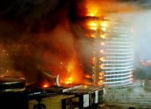 The Dunes Hotel Casino is imploded Oct. 27, 1993.