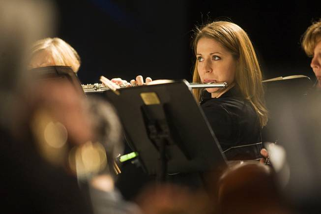 Claire Birmingham rehearses with the Henderson Symphony Orchestra at the Henderson Pavilion on Wednesday, Oct. 26, 2011.