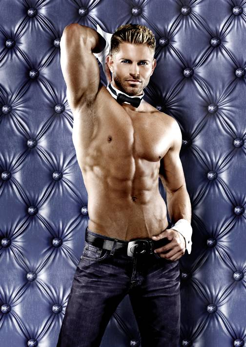 Jaymes Vaughan, lead singer and host of Chippendales at the Rio.