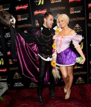 Halloween 2011: Holly Madison, Josh Strickland at Studio 54