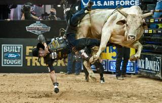 The fifth and final day of the 2011 Built Ford Tough PBR World Finals at the Thomas & Mack Center on Oct. 30, 2011.