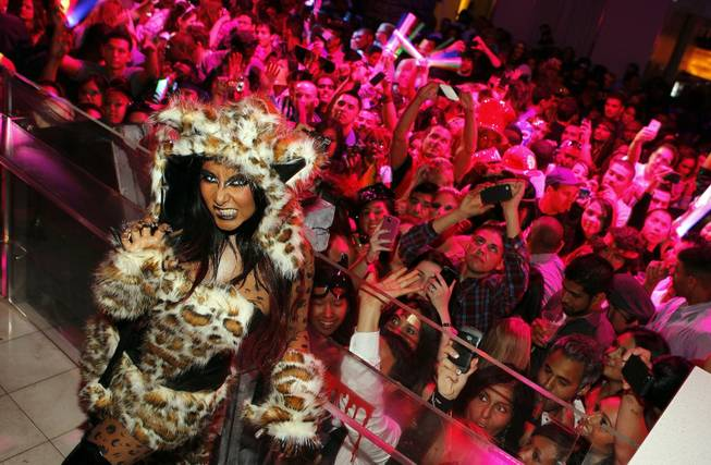 "Nicole ""Snooki"" Polizzi hosts a Halloween celebration at Pure in Caesars Palace on Oct. 29, 2011."