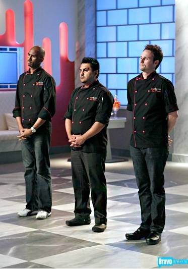 Orlando Santos, Carlos Enriquez and Chris Hanmer on Bravo's <em>Just Desserts</em>.