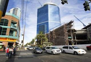 A view of the Fontainebleau Las Vegas project on the Las Vegas Strip Wednesday, Nov. 3, 2011. In 2009, Fontainebleau Las Vegas filed for bankruptcy after banks halted funding for what had been envisioned as a $2.9 billion, 3,815-room resort.