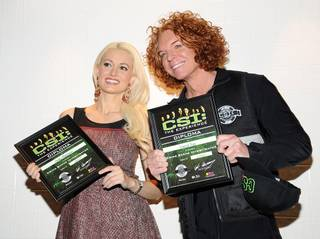 Carrot Top and Holly Madison at