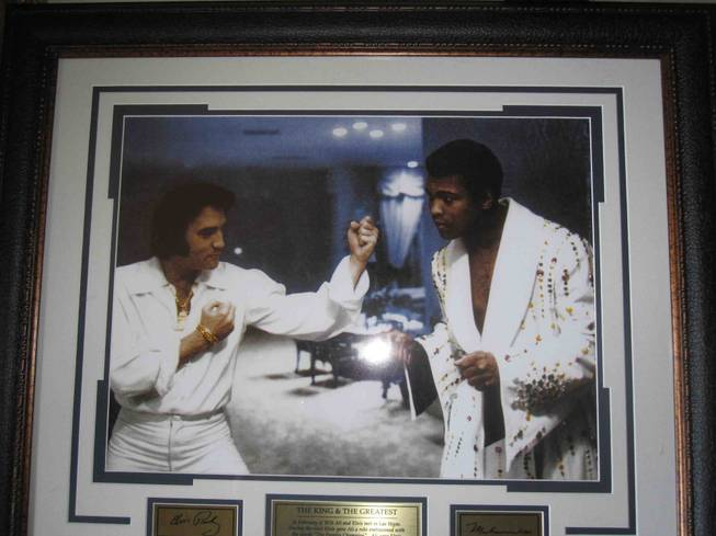 Elvis Presley and Muhammad Ali.