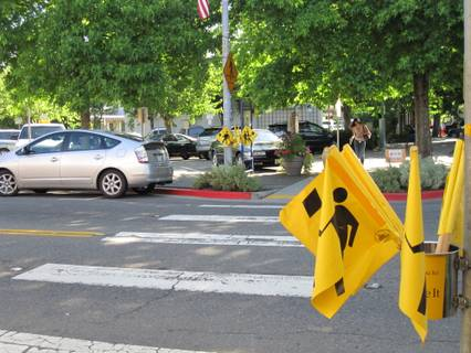 Pedestrian flags image