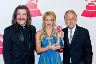 Shakira is honored as the 2011 Latin Recording Academy's Person of the Year at Mandalay Bay on Wednesday, Nov. 9, 2011.