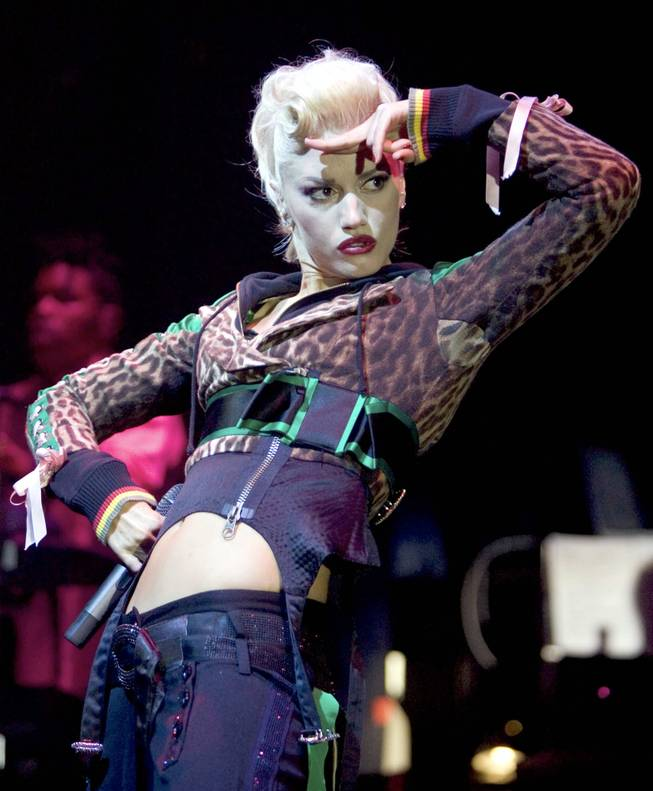 Gwen Stefani performs at the Palms.