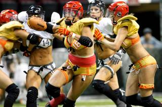 Las Vegas Sin vs. L.A. Temptation at Orleans Arena on Nov. 11, 2011. The Sin won the game 28-20.
