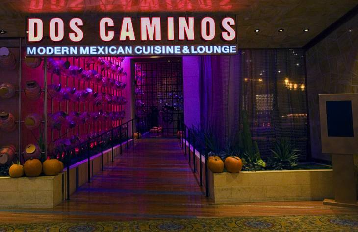 A view of the Dos Caminos Mexican restaurant in the Palazzo Tuesday, November 15, 2011.