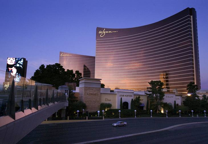 An exterior view of the Wynn and Encore Tuesday, November 15, 2011.