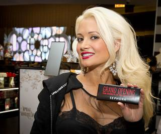 Holly Madison at Sephora's grand opening at the Forum Shops in Caesars Palace on Nov. 18, 2011.