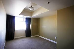 The bedroom of a condo for sale inside The Ogden high rise tower in downtown Las Vegas seen Friday, November 18, 2011.