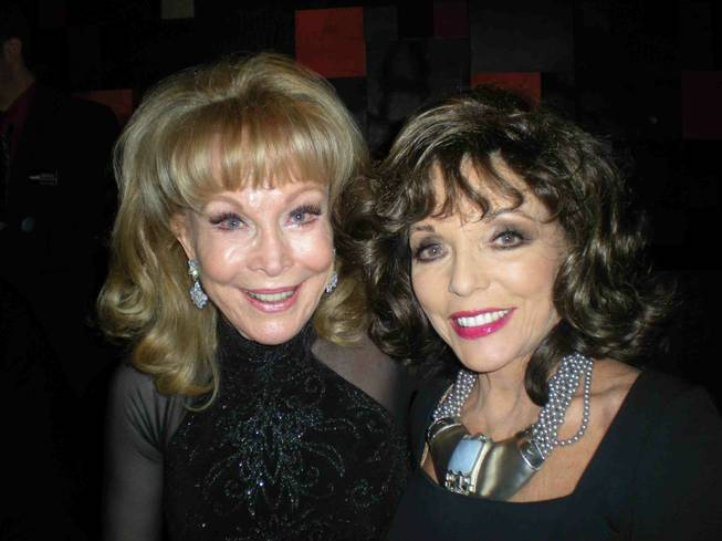 Barbara Eden and Joan Collins during the Hollywood Autograph Show ...