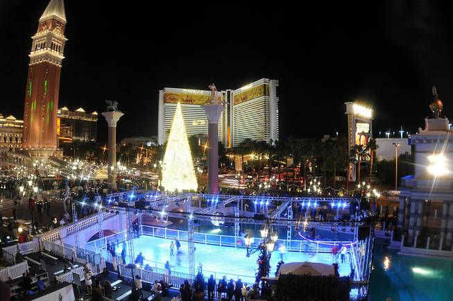 Winter in Venice at the Venetian on Nov. 21, 2011, ...