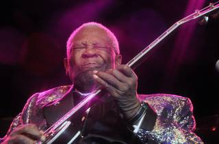 B.B. King performs at Veil Pavilion at Silverton Casino Lodge on Nov. 25, 2011.