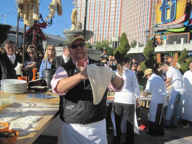 Mario Batali's cooking demonstration at Winter in Venice at the Venetian on Nov. 25, 2011.