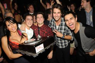 Kendall Schmidt of the Nickelodeon boyband Big Time Rush celebrates his 21st birthday at Tao on Nov. 25, 2011.