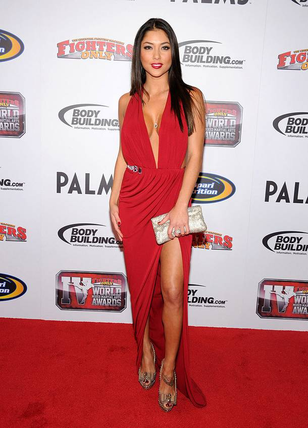 Arianny Celeste at the 2011 Fighters Only World Mixed Martial Arts Awards red carpet at the Palms on Nov. 30, 2011.