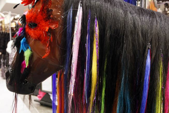 Gypsy Tails for horses starting at $17 for sale at Gypsy Soule at the Cowboy Christmas Gift Show at the Las Vegas Convention Center in Las Vegas Thursday, Dec. 1, 2011.