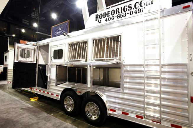 A luxury Rodeo Rig for sale for $75,000 at the Cowboy Christmas Gift Show at the Las Vegas Convention Center in Las Vegas Thursday, Dec. 1, 2011.