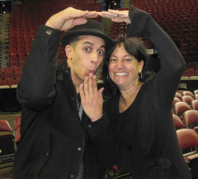 "Salah Benlemoawanssa and Chantal Tremblay of Cirque du Soleil's ""Michael Jackson: The Immortal World Tour."""
