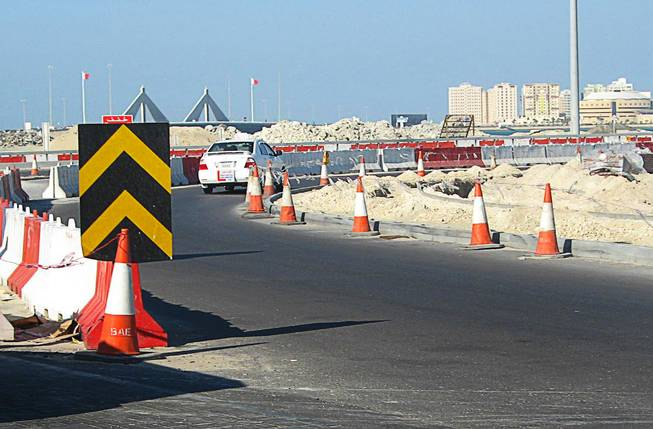 In Bahrain, construction is happening throughout the island. December  2011.