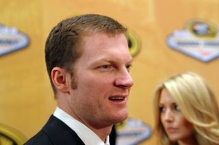 Dale Earnhardt Jr. walks the red carpet at the NASCAR Sprint Cup Series Champions Awards at the Wynn on Dec. 2, 2011.