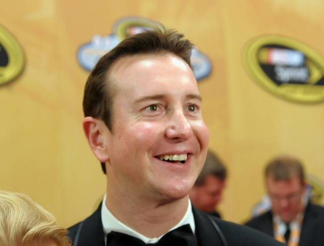 Kurt Busch walks the red carpet at the NASCAR Sprint Cup Series Champions Awards at the Wynn on Dec. 2, 2011.