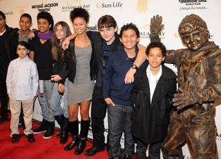Blanket Jackson, Paris Jackson, Prince Jackson and friends at the