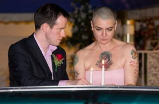 Sinead O'Connor and Barry Herridge wed at A Little White Wedding Chapel in Las Vegas on Dec. 8, 2011, the Irish singer-songwriter's 45th birthday.