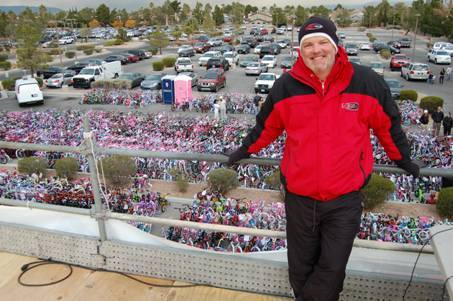 DJ Chet Buchanan and his 2011 holiday toy drive.
