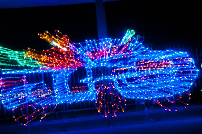 Glittering Lights at the Las Vegas Motor Speedway, Wednesday Dec. 14, 2011.