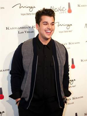 The Kardashian Khaos grand opening red carpet celebration at the Mirage featuring Kim Kardashian, Khloe Kardashian, Kourtney Kardashian, Scott Disick, Rob Kardashian, Kendall Jenner, Kylie Jenner and Kris Jenner on Dec. 15, 2011.