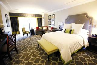A deluxe room inside the new Octavius Tower at Caesars Palace in Las Vegas Thursday, Dec. 15, 2011.