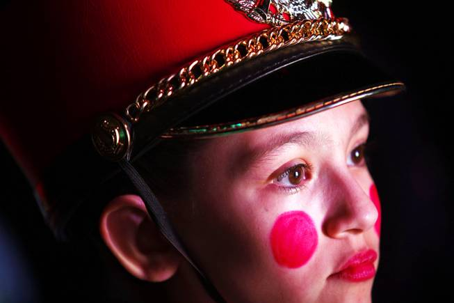 "Mercedes Murray, 12, one of the toy soldiers, waits backstage to enter during the opening matinee performance of ""The Nutcracker"" by Nevada Ballet Theatre at Paris Las Vegas on Saturday, Dec. 17, 2011."