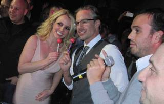Britney Spears and Jason Trawick at the Paris on Dec. 16, 2011.