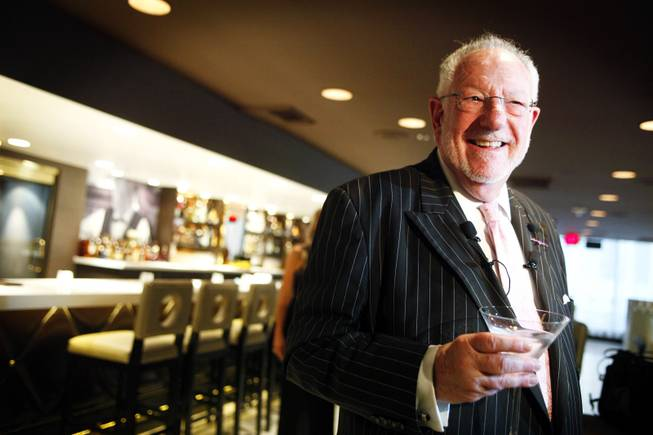 Oscar Goodman speaks with the media on opening night of Oscar's Steakhouse in the Plaza on Monday, Dec. 19, 2011.