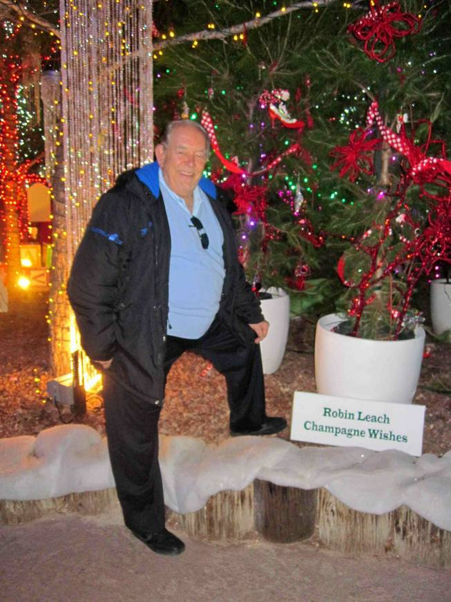 Robin Leach and his Champagne Wishes at Opportunity Village's Magical Forest on Dec. 19, 2011.