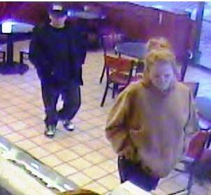 Police say this couple are suspects in the robbery of a business Dec. 18, 2011, near Spring Mountain Road and Jones Boulevard.
