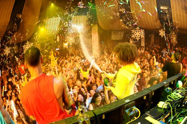 Redfoo at Party Rock Mondays at Marquee in the Cosmopolitan on Dec. 19, 2011.