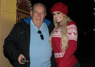 Robin Leach and Angel Porrino at Opportunity Village's Magical Forest on Dec. 19, 2011.