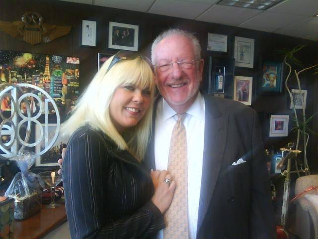 Sunset Thomas and Oscar Goodman, Dec. 27, 2011.