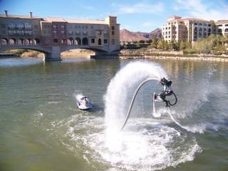 Franky Zapata, a watercraft racer who invented a water jet-powered